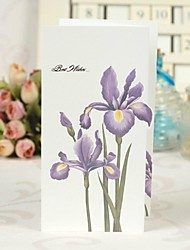 Flower-de-luce  Pattern Z-fold Greeting Card for Mother's Day