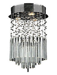 Max 50W Flush Mount ,  Modern/Contemporary Electroplated Feature for Crystal Metal Living Room / Bedroom / Dining Room