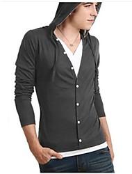 Männer Casual Fashion V-Ausschnitt Langarm-Pullover