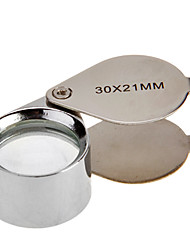 30X 30x21mm Drop Shape Folding Jeweler's Eye Loupe Magnifier Magnifying Glass Microscope