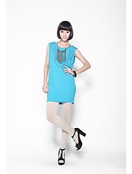 Mujeres Zoely simple elástico H-Line Excluir Collar Dress 101121L064