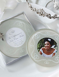 The Difference a Kiss Can Make Frosted-Glass Photo Coasters, Set of 2