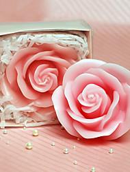 Розовые розы Свеча