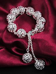 Alta Qualidade Doce Prata Prata Pierce Beads pulseiras