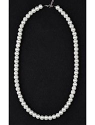 Women's Strands Necklaces Pearl Necklace Pearl Imitation Pearl Ivory Jewelry Wedding Party Daily Casual 1pc