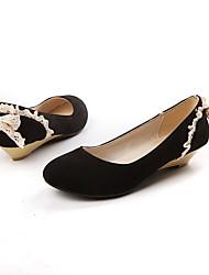 Suede Damen Keilabsatz Wedges Pumps / Absatz-Schuhe (weitere Farben)