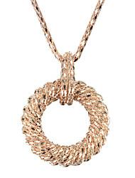 Collier de la femme pendant d'alliage élégant Golden Ring