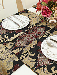 Set of 4 Glimmar Cut Velvet Jacquard Coffee Placemats