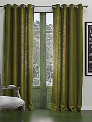 Neoclassical Two Panels Solid  Living Room Poly  Cotton Blend Panel Curtains Drapes