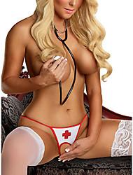 Mujeres Sexy Wicked Abertura entre las piernas de la enfermera tanga