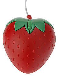 USB Wired Strawberry Shaped Optical Mouse