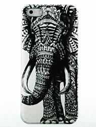 Право Слон Pattern Твердый переплет чехол для iPhone 5/5S