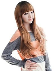 Lady Fashion Synthetic Long Curly Wigs Full Bang Wigs 3 Colors Available