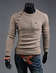 coreano estilo de venda quente botões irregulares do homem camisola