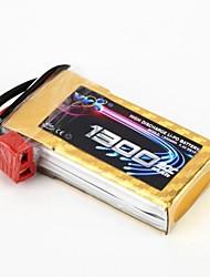 YKS 7.4V 1300mAh 2S 20C batterie Li-Po (T Plug)