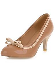 Stiletto Heels talón del cuero de patente de las mujeres Bombas / zapatos de tacón con Bowknot Zapatos (más colores)