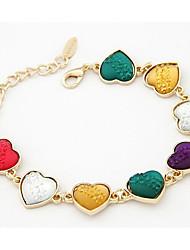 Women's Korean Fashion Colorful Heart Resin Chain