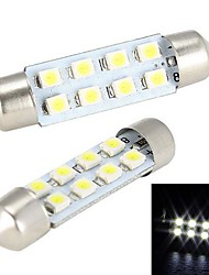 Merdia 4W 150LM гирлянда 41MM 8x1210SMD светодиодных Белый Свет для Рулевое лампочки / лампа для чтения - (2 PCS / 12)