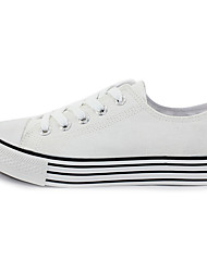WARRIOR Men's Anti-slip Classic White Height Increasing Low Canvas Shoes