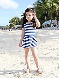 Girl's Dress,Striped Cotton / Spandex Summer