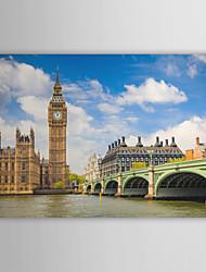 Натяжные Печать холст искусства Пейзаж Биг Бен при дневном свете, Великобритания