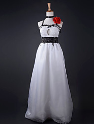 Inspired by Vocaloid Meiko Video Game Cosplay Costumes Cosplay Suits / Dresses Lace White / Black / Red Dress / Necklace