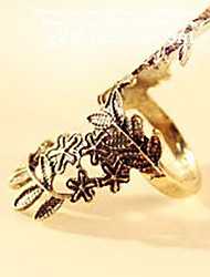 MISS U Women's Vintage Leaves And Flower Pattern Cut Out  Ring
