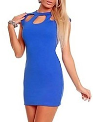 Women's  Package Buttocks Hollow Out Foreign Trade  Mini Dress