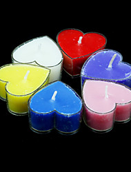 Fragrance Heart Shaped Votive Candles - Set of 6 Pieces