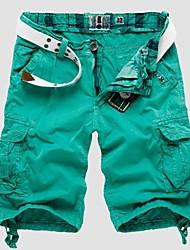 algodón corto brillantes pantalones cortos de color de los hombres