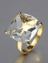 cadeau pour cubes anneaux du compte de zircone clairs de mode de petite amie (d'or) (1 pc)