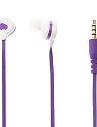 E028 3.5mm Stereo High Quality In-ear Headset cuffia con microfono per MP3 (Viola)
