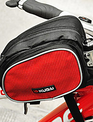 CoolChange 600D Waterproof Red Bicycle Front Tube Bag