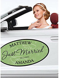 Personalized Butterfly Wedding Window/Car Cling (More Colors)