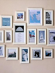 Frame Collection Bianco Photo Wall Set di 15