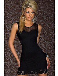 Girls Night Women's Color Block Blue / Black / Green Dresses , Sexy / Casual / Party Mid Rise Sleeveless