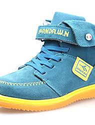 Dw  Kids Velvet High-Top Sneaker Fashion Warm Snow Ankle Boys Boots (Blue)