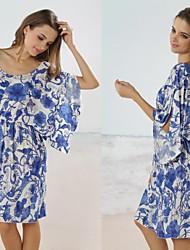 Feminina Moda estilo quimono Swim Vestido