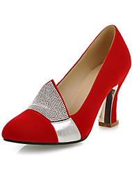 Замша Женские Очередь каблук каблуки Насосы / каблуки обуви (больше цветов)
