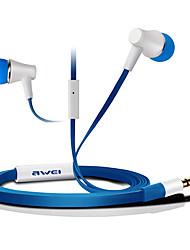 ES-300i-awei Super Bass in-ear oortelefoon met microfoon en afstandsbediening voor Mobilephone/PC/MP3