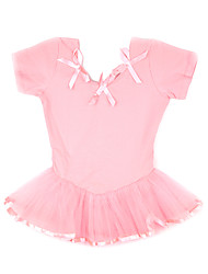 Dancewear Kids' Lycra Tulle Bowknot Short Sleeve Ballroom Ballet Skirts/Tutus Kids Dance Costumes
