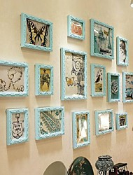 Sky Blue Color Photo Frame Collection Set von 15