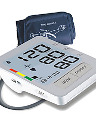 Monitor de presión arterial de brazo automático digital (Blanco)