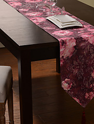 Mysterious Floral Polyester Table Runner Violet