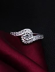 Hohe Qualität Shining Silver überzog freie Rhinestone Ring der Frauen
