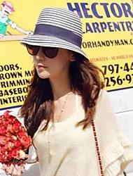 Женская Мода полосой пляж Hat