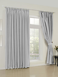 Two Panels Modern Solid ture Living Room Polyester Panel Curtains Drapes