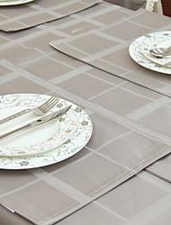 Yarn Dye Grey Table Cloth
