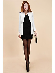 Women's Black/White Blazer , Vintage/Bodycon/Casual/Party/Work Long Sleeve