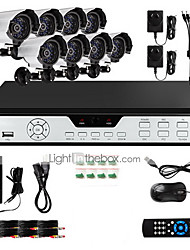 Zmodo® 8 Outdoor 600TVL IR CCTV Home Video Surveillance Security  System